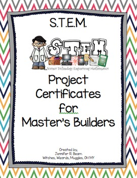 STEM Project Master Builder Certificates