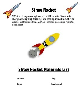STEM Project Straw Rocket