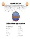 STEM Project Unbreakable Egg