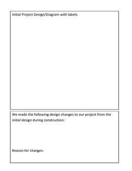 STEM Project information student sheet