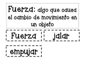 STEM Push/Pull Activities Spanish