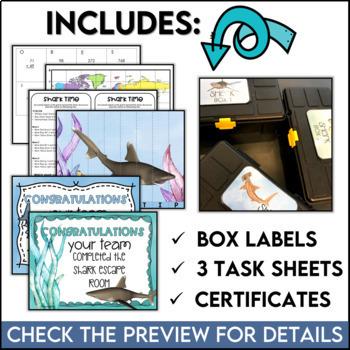 STEM Quest featuring Sharks An Unlock the Box Challenge