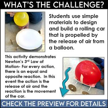 STEM Activity Challenge Balloon Cars