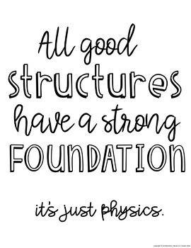 STEM Quote FREEBIE - Classroom Poster - Engineering & Design - Good Structures