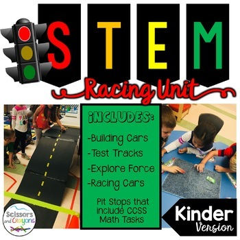 STEM Race Car Kindergarten Pack