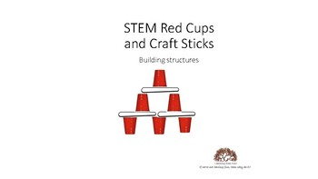 STEM Red Cups and Craft Stick growing bundle
