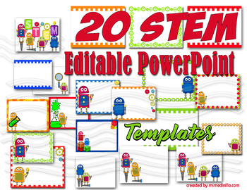 STEM Robot PowerPoint Editable Templates 20 Slides
