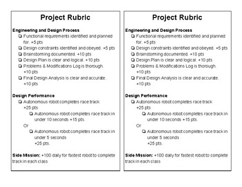 STEM Robotics Engineering and Design Challenge - Robot Racer