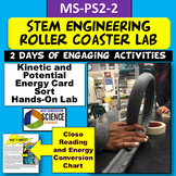 MS-PS2-2: STEM Roller Coaster Lab & Card Sort Engineering Design Process