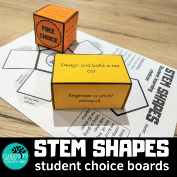STEM Choice Boards 3D Shapes