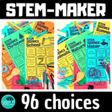 STEM choice boards BUNDLE Distance Learning - Independent Work Packets.