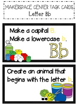 STEM, STEAM Alphabet Challenge Makerspace Task Cards for the YEAR!
