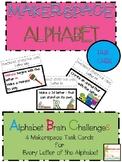STEM, STEAM Alphabet Challenge Makerspace Task Cards for t