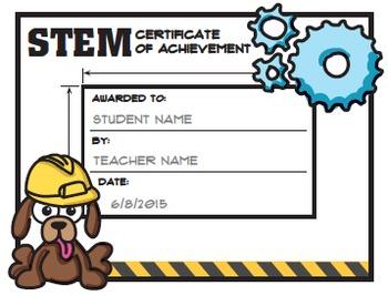 stem steam award certificates
