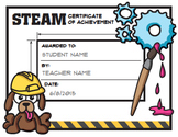 STEM / STEAM Award Certificates