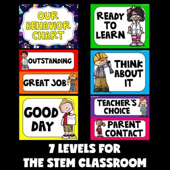 STEM Behavior Chart (STEAM Clip Chart)