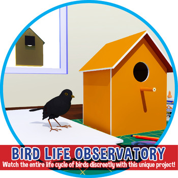 STEM Bird Observatory - Not a Birdhouse! Watch the entire life cycle of birds!