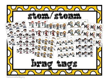 STEM/ STEAM Brag Tags