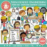 STEM / STEAM Clip Art Bundle 3: YOUNG KIDS & Engineering
