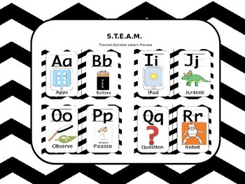STEM/ STEAM Cover Themed Alphabet Letters