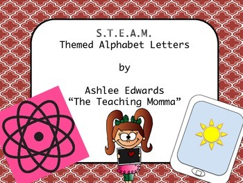 STEM/ STEAM Cover Themed Alphabet Letters (Red)