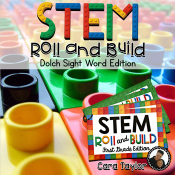 STEM (STEAM) Dolch Sight Word Roll and Build