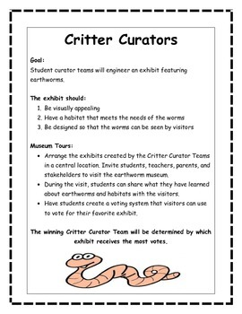 STEM, STEAM, Engineering Challenge CRITTER CURATORS