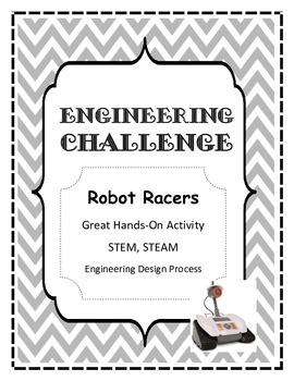 STEM, STEAM, Engineering Challenge ROBOT RACERS