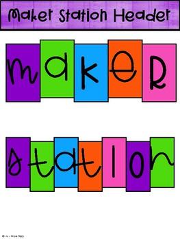 STEM/ STEAM/ Maker Station Bulletin Board Set- Brights
