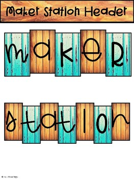 STEM/ STEAM/ Maker Station Bulletin Board- Wood Grain