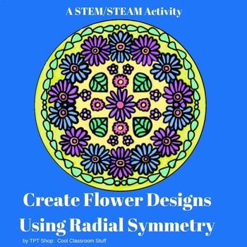 Cover for an art lesson on radial symmetry and flowers