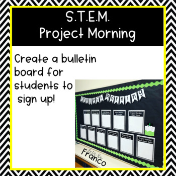 STEM & STEAM Project Morning Choice Activities