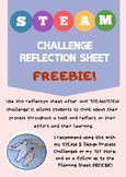 STEM/STEAM Reflection Sheet FREEBIE