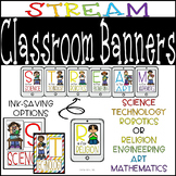 STEM, STEAM, STREAM Bulletin Board Display with a Religion Option