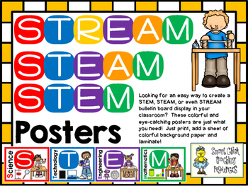 STEM, STEAM, STREAM Posters and Interactive Notebook Pages