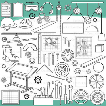 STEM / STEAM Set 3 – Engineering Clip Art
