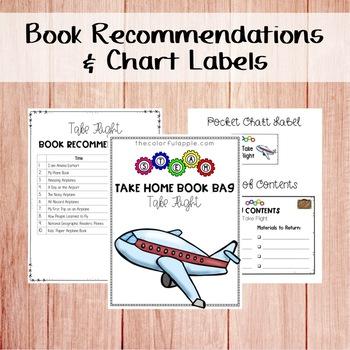 STEM & STEAM Take Home Book Bags: Airplanes