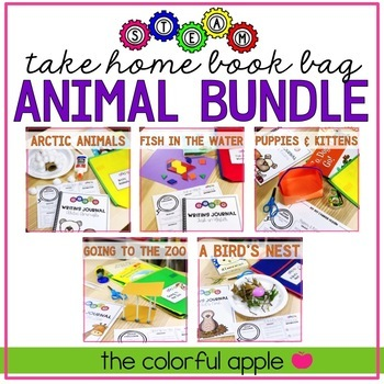 STEM & STEAM Take Home Book Bags: Animal Bundle