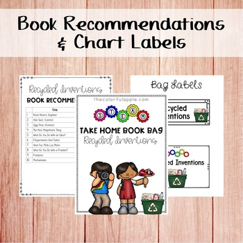 STEM & STEAM Take Home Book Bags: Recycled Inventions