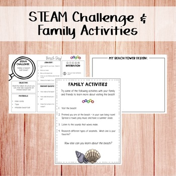 STEM & STEAM Take Home Book Bags: Beach Day