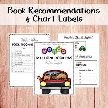 STEM & STEAM Take Home Book Bags: Cars