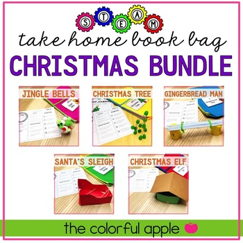 STEM & STEAM Take Home Book Bags: Christmas Bundle