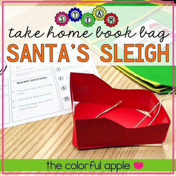 STEM & STEAM Take Home Book Bags: Santa's Sleigh