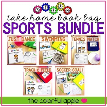 STEM & STEAM Take Home Book Bags: Sports Bundle