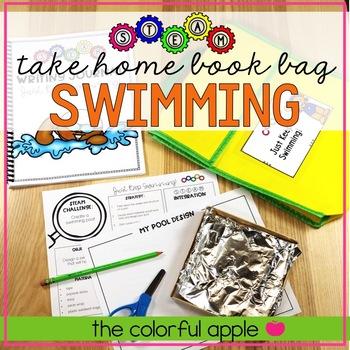 STEM & STEAM Take Home Book Bags: Swimming
