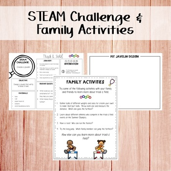 STEM & STEAM Take Home Book Bags: Track and Field