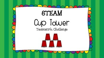 STEM STEAM Teamwork Cup Tower Challenge