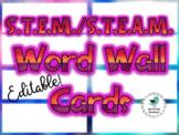 STEM/STEAM Word Wall Cards