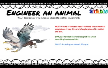 STEM (STEAM) task - Engineer an animal