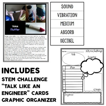 STEM Sampler Pack with Sound STEM Challenge and Engineering Graphic Organizer
